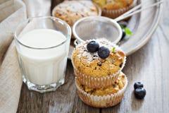 Muffin liberi della mandorla e dell'avena del glutine Fotografie Stock