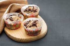 Muffin liberi di forma fisica dello zucchero Fotografia Stock