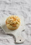 Muffin on a light surface Royalty Free Stock Image