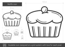 Muffin line icon. Royalty Free Stock Images