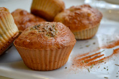 Muffin med broccoli Royaltyfri Fotografi