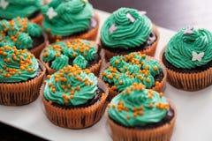 Muffin med gräsplankräm Royaltyfria Foton