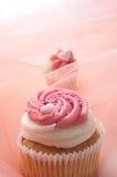 Muffin med hjärtor Fotografering för Bildbyråer