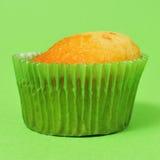 Muffin med ingen glasyr på kaka Arkivbilder