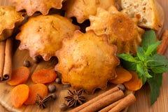 Muffin med kryddor Arkivbild