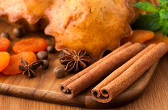 Muffin med kryddor Fotografering för Bildbyråer