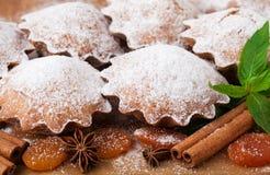 Muffin med kryddor Arkivbilder