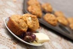 Muffin med ost Royaltyfria Bilder