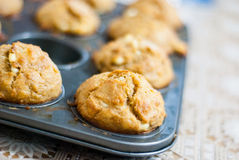 Muffin med ost Royaltyfri Bild