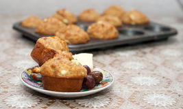 Muffin med ost Royaltyfria Foton