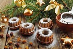 Muffin med pudrat socker Royaltyfria Foton