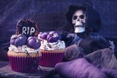 Muffin med pumpor Arkivfoto