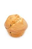 Muffin med isolerade russin Arkivfoto