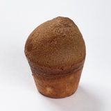 Muffin med russinläxa på en vit bakgrund Royaltyfria Bilder