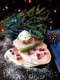 Muffin med smörkräm Arkivbild