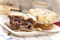 Muffin met Bosbes stock afbeeldingen