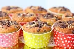 Muffin met choc-spaander stock fotografie