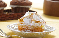 Muffin met gepoederde suiker Royalty-vrije Stock Fotografie