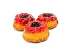 Muffin met jam Stock Afbeeldingen