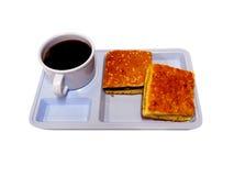 Muffin met koffiekop royalty-vrije stock foto