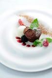 Muffin met roomijs Royalty-vrije Stock Afbeelding