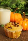 Muffin and milk Stock Photography