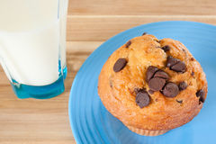 Muffin And Milk Royalty Free Stock Image