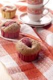 Muffin mit Erdbeere Lizenzfreies Stockbild