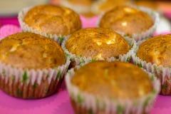 Muffin mit Käse Stockfotografie