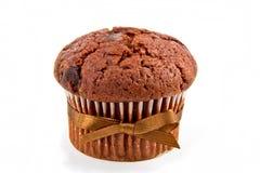 Muffin mit Kakao und Schokolade stockbilder