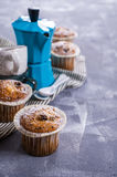 Muffin mit Rosinen stockfoto