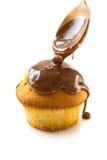 Muffin mit Schokolade Stockbild