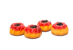 Muffin mit Stau stockbild