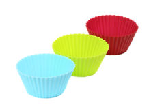 Muffin moulds Stock Images