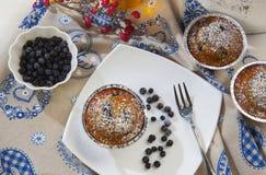 Muffin nero mirtillo Al Στοκ Φωτογραφία
