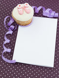 Muffin newborn invitation Stock Image