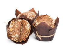 Muffin with nuts Royalty Free Stock Image