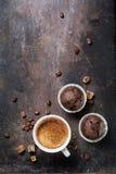 Muffin och espresso Royaltyfri Fotografi