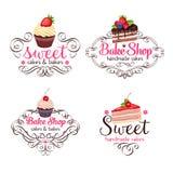 Muffin och kaka stock illustrationer