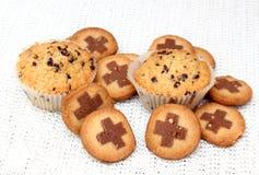 Muffin och kakor arkivbild