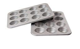 Muffin- och muffinpanna III Arkivfoton