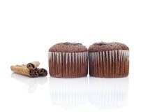Muffin och pinnekanel Royaltyfri Fotografi