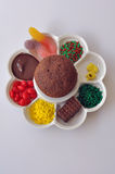 Muffin och toppningar Arkivbilder