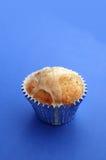 Muffin op Blauw 01 Royalty-vrije Stock Afbeeldingen