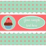 Muffin på en färgrik bakgrund Fotografering för Bildbyråer