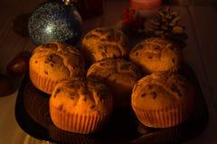Muffin på julafton Royaltyfria Foton