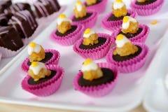 Muffin på plattan Royaltyfri Fotografi