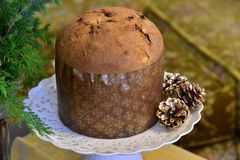 Muffin på tabellen Royaltyfria Bilder