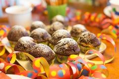 Muffin_party Fotografia de Stock Royalty Free
