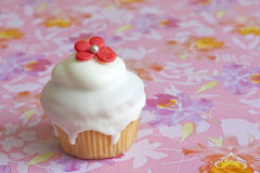 Muffin on pink background Stock Photos